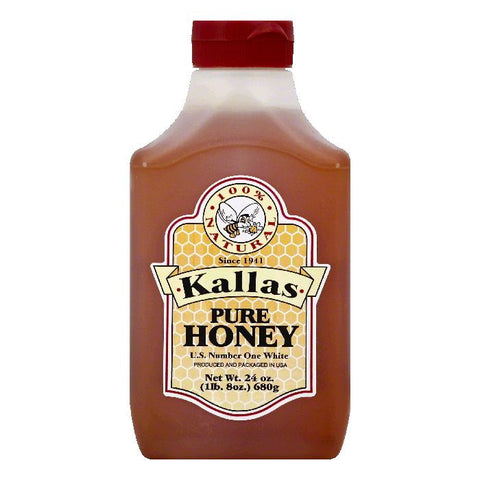 Kallas Pure Honey, 24 OZ (Pack of 12)