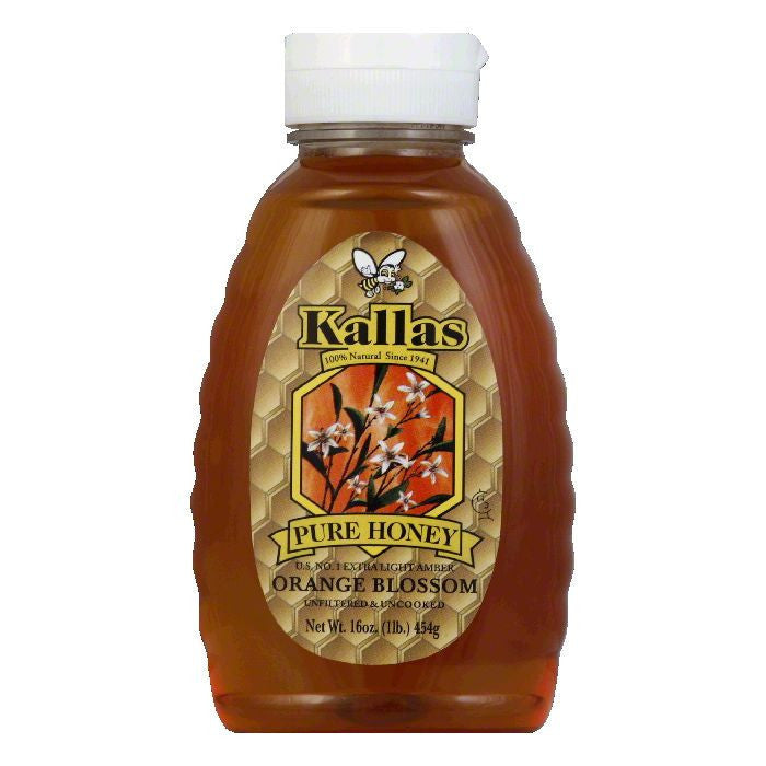 Kallas Honey Orange Blossom, 16 OZ (Pack of 12)