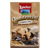 Loacker Cappuccino Bite Size Wafer Cookies, 7.76 OZ (Pack of 8)