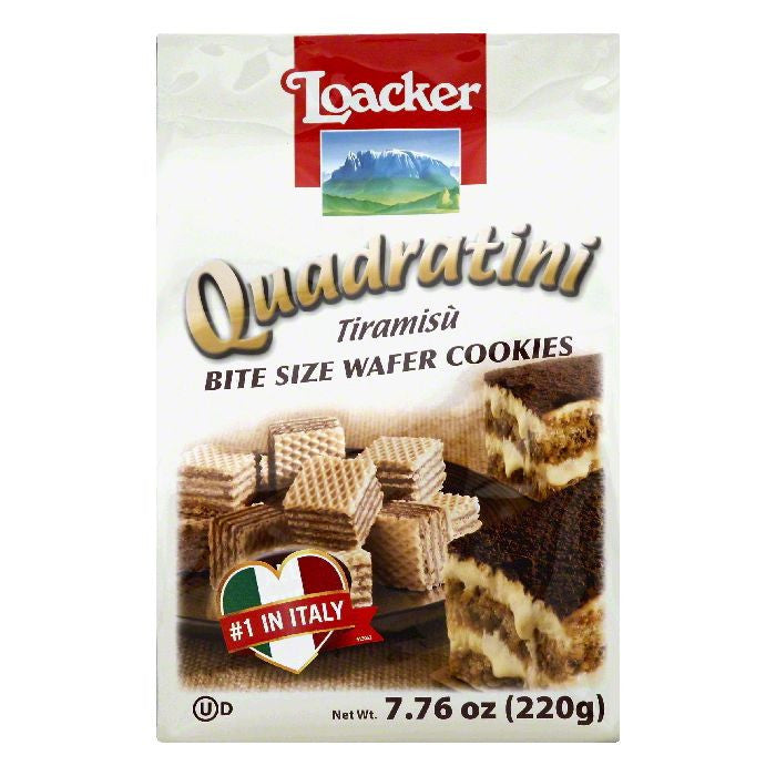 Loacker Tiramisu Bite Size Wafer Cookies, 7.76 OZ (Pack of 8)