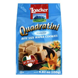 Loacker Vanilla Bite Size Wafer Cookies, 8.82 OZ (Pack of 8)