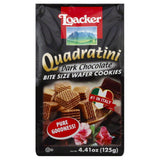 Loacker Dark Chocolate Bite Size Wafer Cookies, 4.41 Oz (Pack of 12)