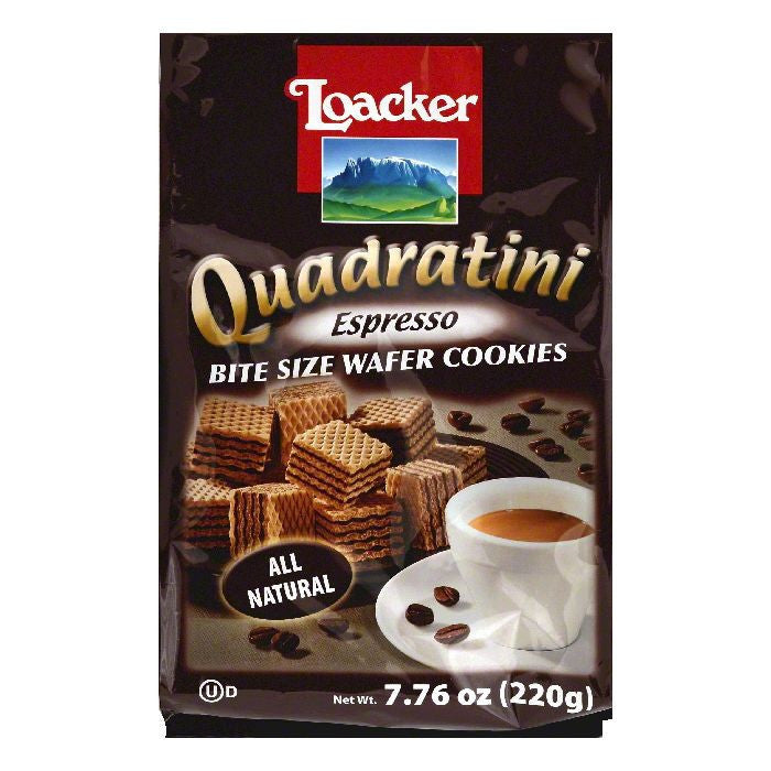 Loacker Espresso Bite Size Wafer Cookies, 7.76 OZ (Pack of 8)