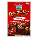 Loacker Chocolate Hazelnut Quadratini Wafer, 4.8 OZ (Pack of 8)
