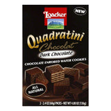 Loacker Dark Chocolate Chocolate Enrobed Wafer Cookies, 2 ea (Pack of 8)