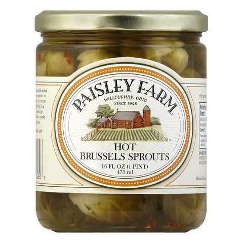 Paisley Farm Brussel Sprouts Hot, 16 OZ (Pack of 12)