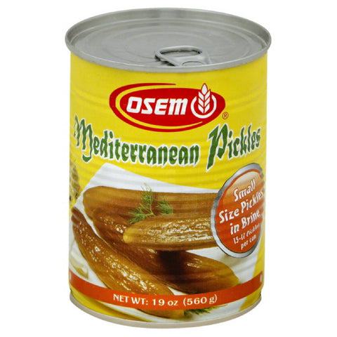 Osem Mediterranean Pickles, 19 Oz (Pack of 12)