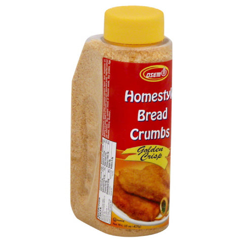 Osem Golden Crisp Homestyle Bread Crumbs, 15 Oz (Pack of 12)