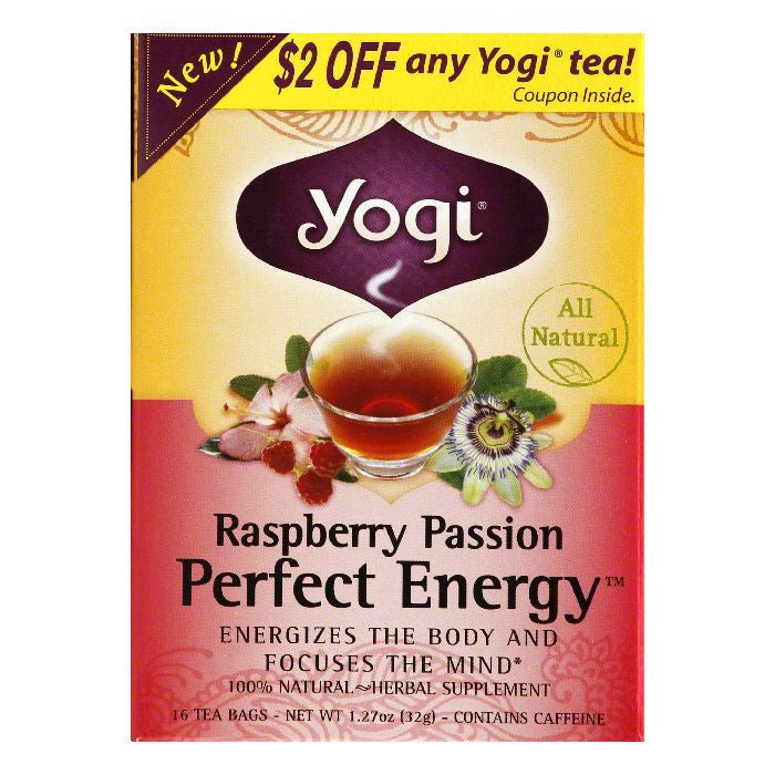 Yogi Raspberry Passion Tea Bags, 16 BG (Pack of 6)