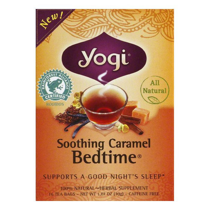 Yogi Soothing Caramel Bedtime Tea Bags, 16 BG (Pack of 6)