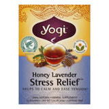 Yogi Honey Lavender Caffeine Free Stress Relief Tea, 16 BG (Pack of 6)