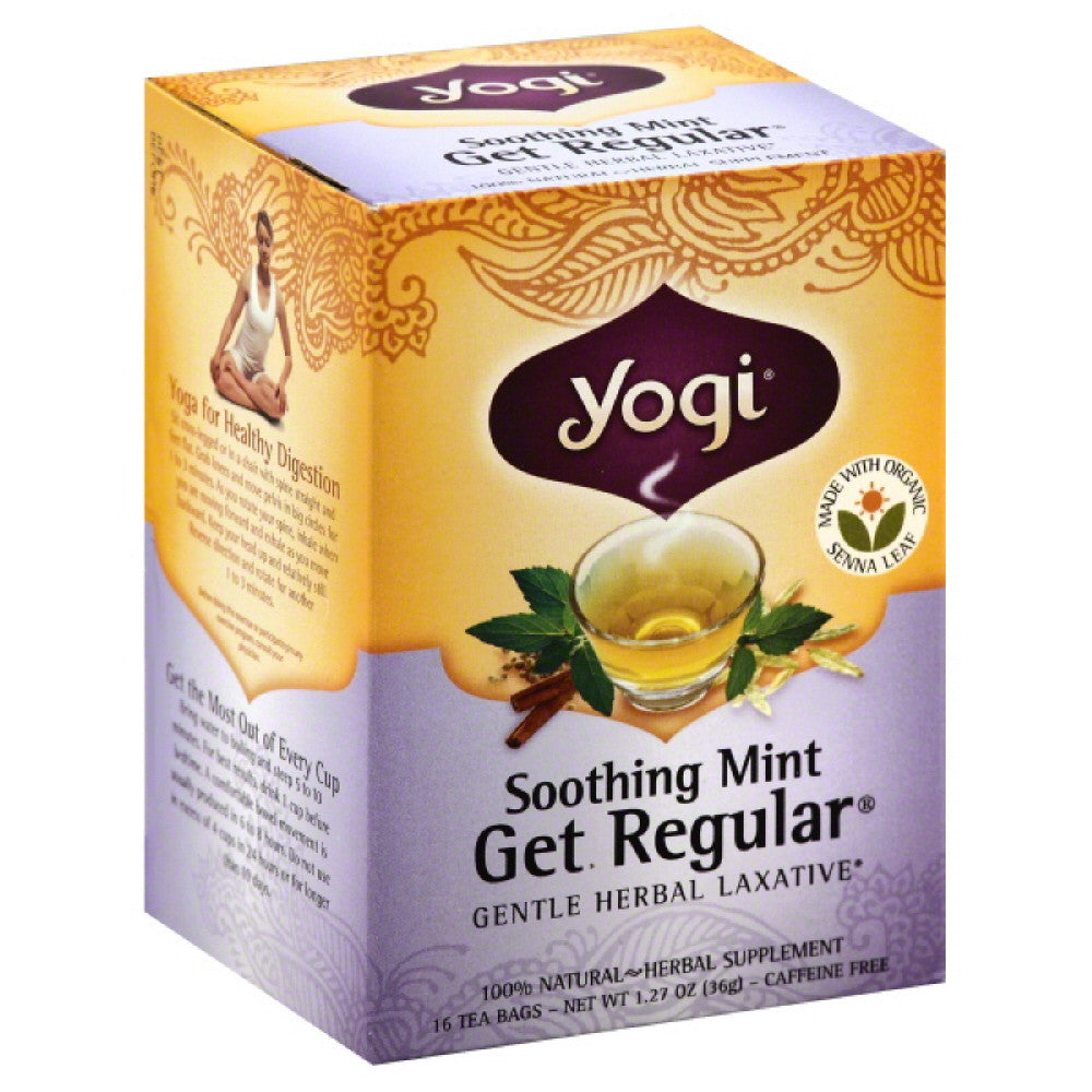 Yogi Organic Soothing Mint Get Regular Tea Bags, 16 Bg (Pack of 6)