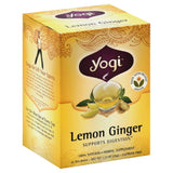 Yogi Caffeine Free Lemon Ginger Tea Bags, 16 Bg (Pack of 6)