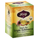 Yogi Triple Echinacea Green Tea Bags, 16 Bg (Pack of 6)
