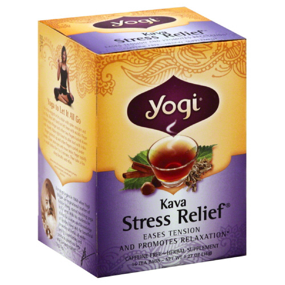 Yogi Caffeine Free Kava Stress Relief Tea Bags, 16 Bg (Pack of 6)