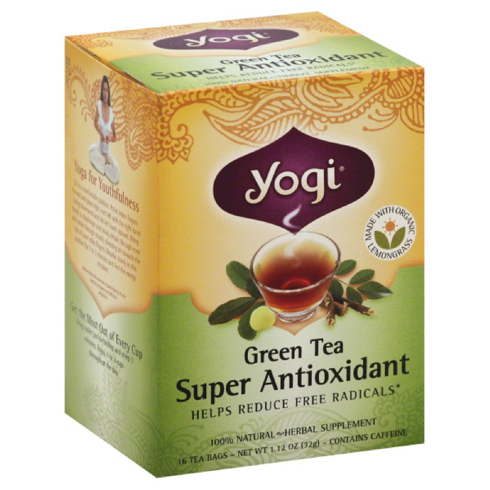 Yogi Super Antioxidant Green Tea Bags, 16 Bg (Pack of 6)
