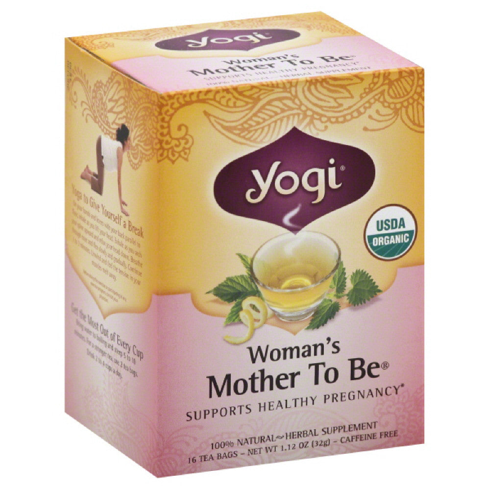 Yogi Organic Caffeine Free Mother To Be Woman's Tea Bags, 16 Bg (Pack of 6)