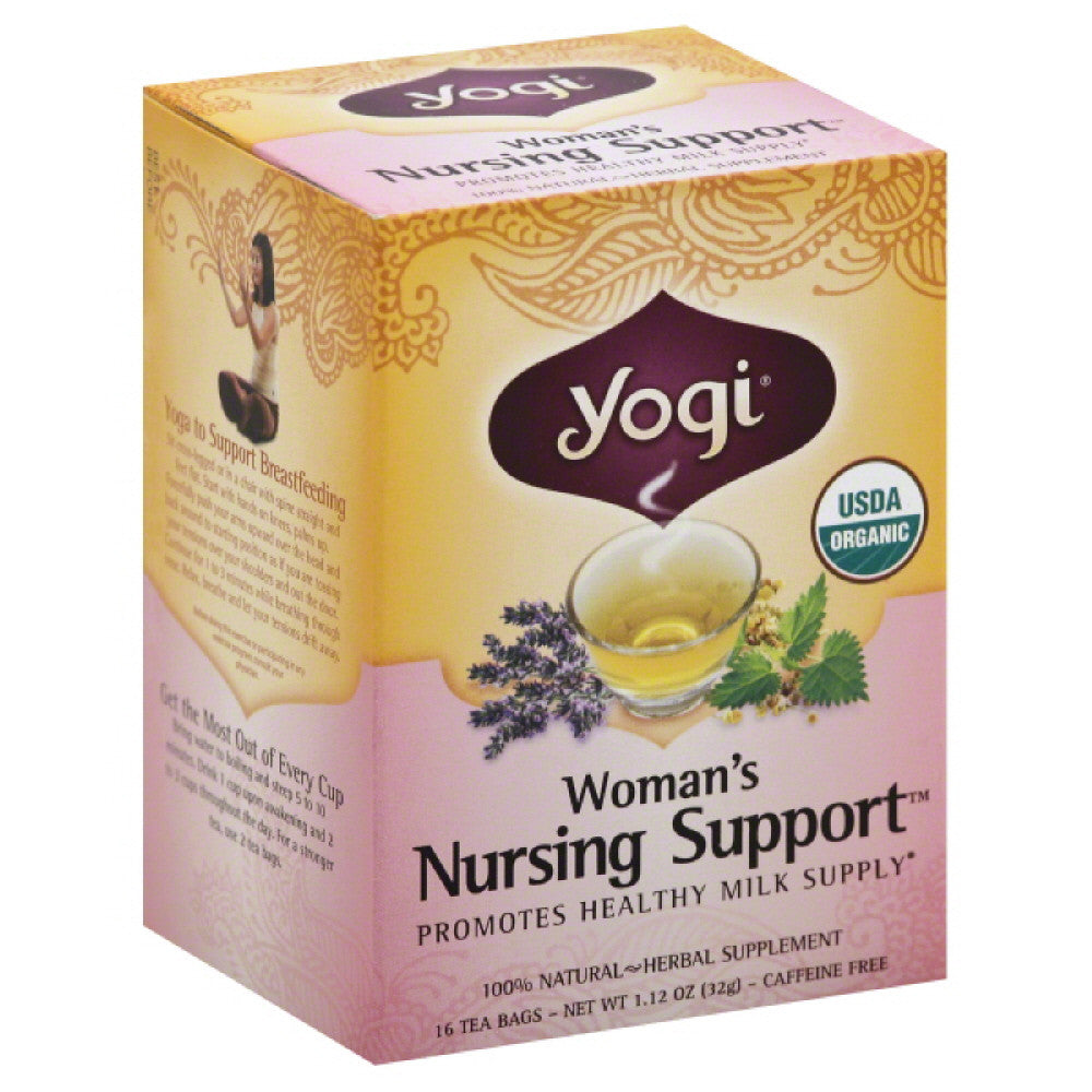 Yogi Organic Caffeine Free Nursing Support Woman's Tea Bags, 16 Bg (Pack of 6)