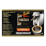 San Francisco Bay Single Serve French Roast Premium Gourmet Coffee, 12 PC (Pack of 6)