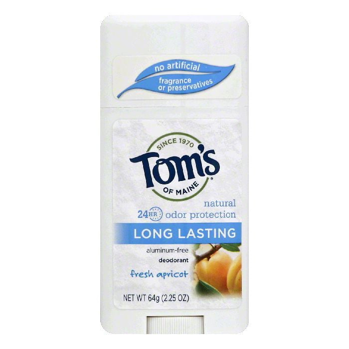Toms of Maine Fresh Apricot Long Lasting Deodorant, 2.25 OZ