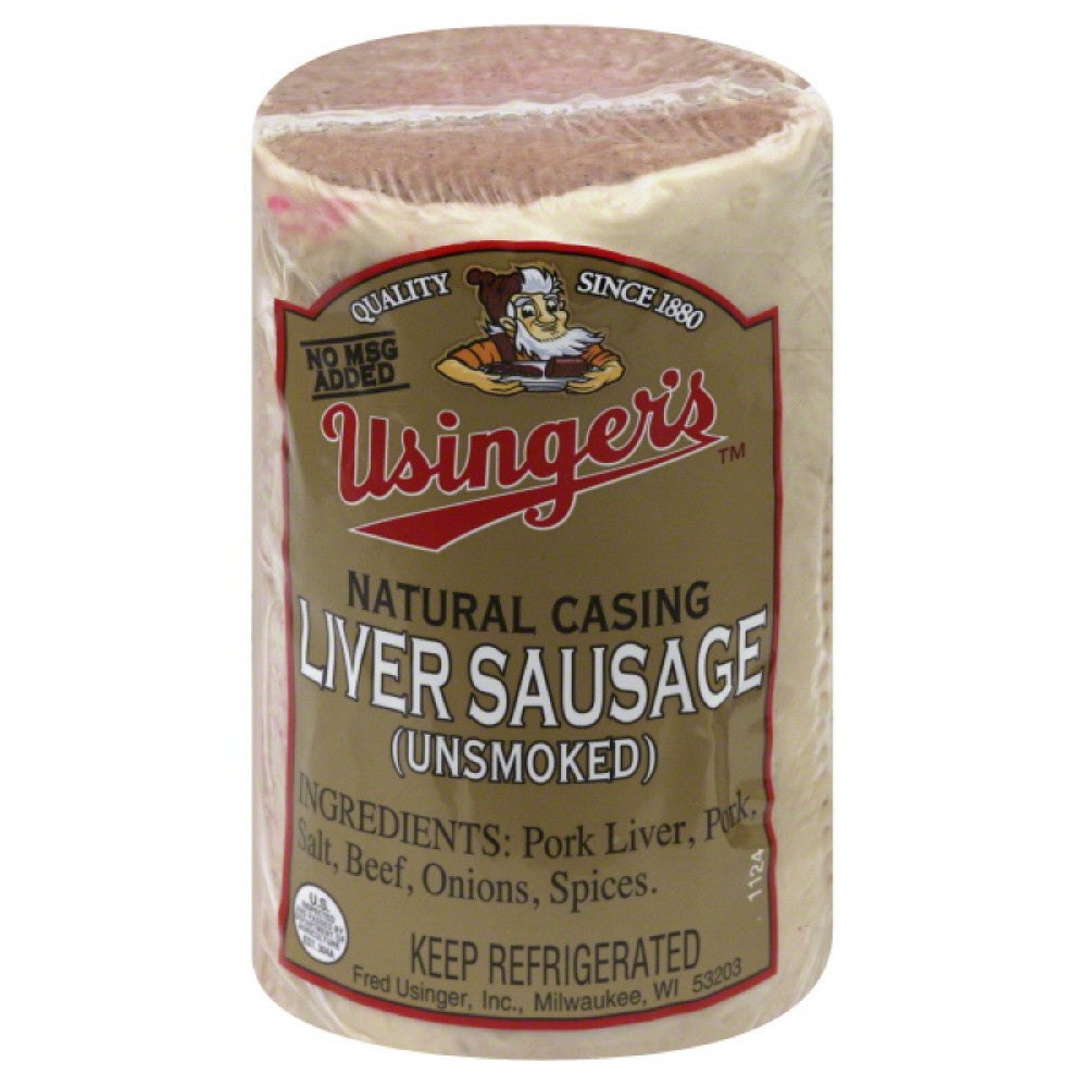 Usingers Unsmoked Natural Casing Liver Sausage, 7 Lb