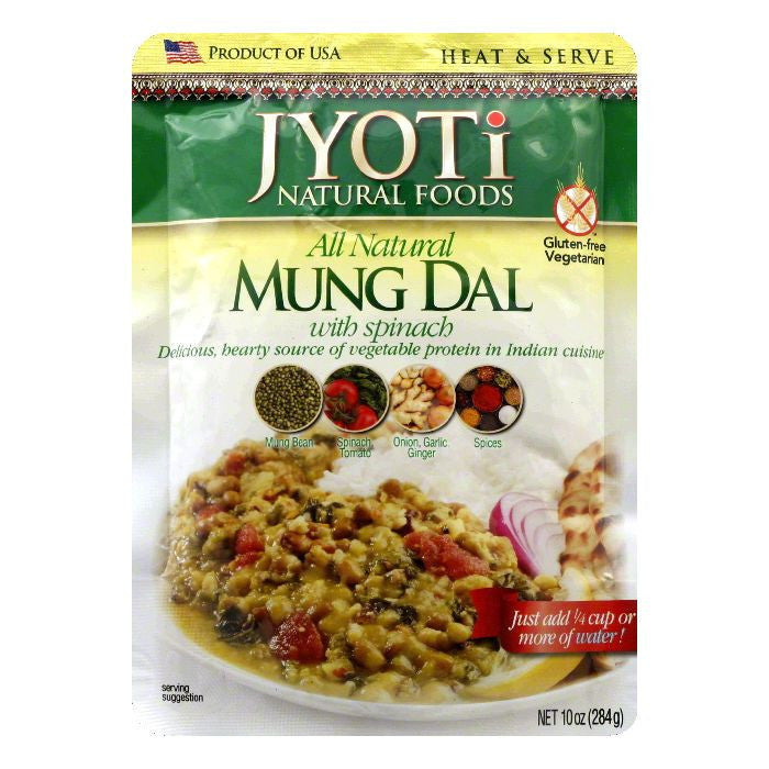 Jyoti Gluten Free Mung Dal with Spinach, 10 OZ (Pack of 6)