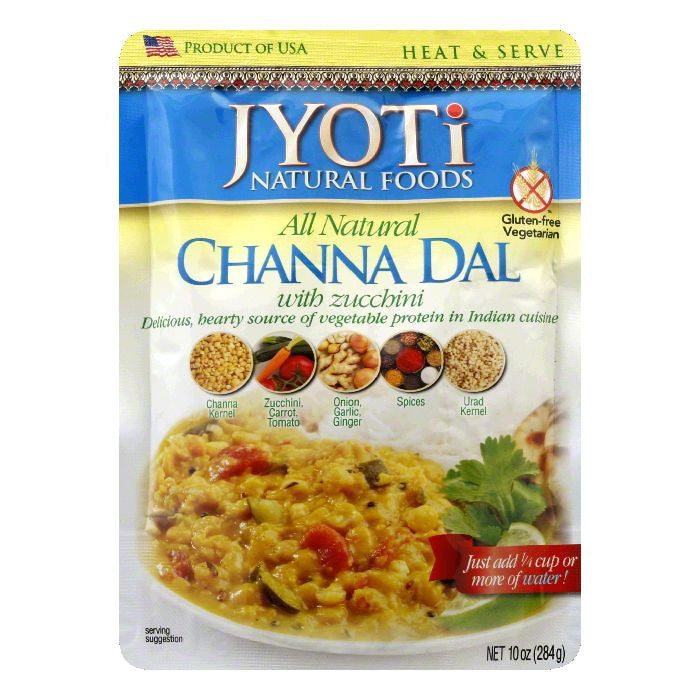 Jyoti Gluten Free Chana Dal with Zuchini, 10 OZ (Pack of 6)