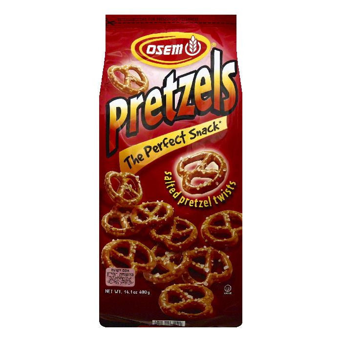 Osem Twists Salted Pretzels, 14.1 OZ (Pack of 12)