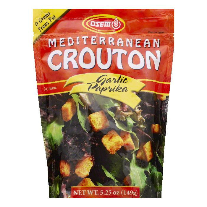 Osem Garlic Paprika Mediterranean Crouton, 5.25 OZ (Pack of 8)