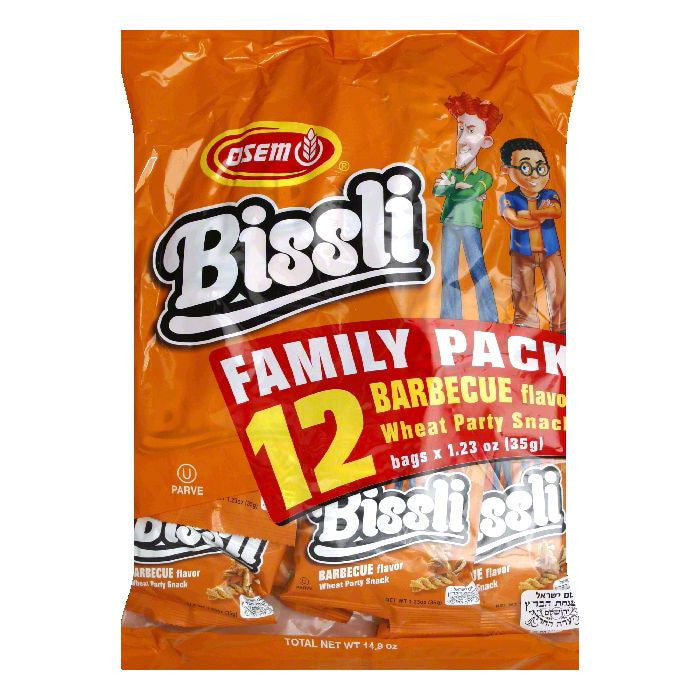 Osem Bissli Multi Pack BBQ Snacks, 14.8 OZ (Pack of 4)