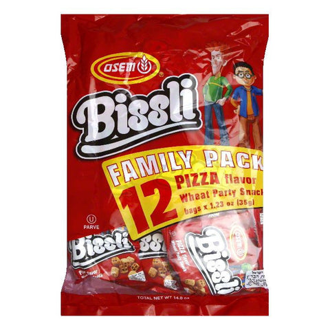 Osem Bissli Multi Pack Pizza Snacks, 14.8 OZ (Pack of 4)