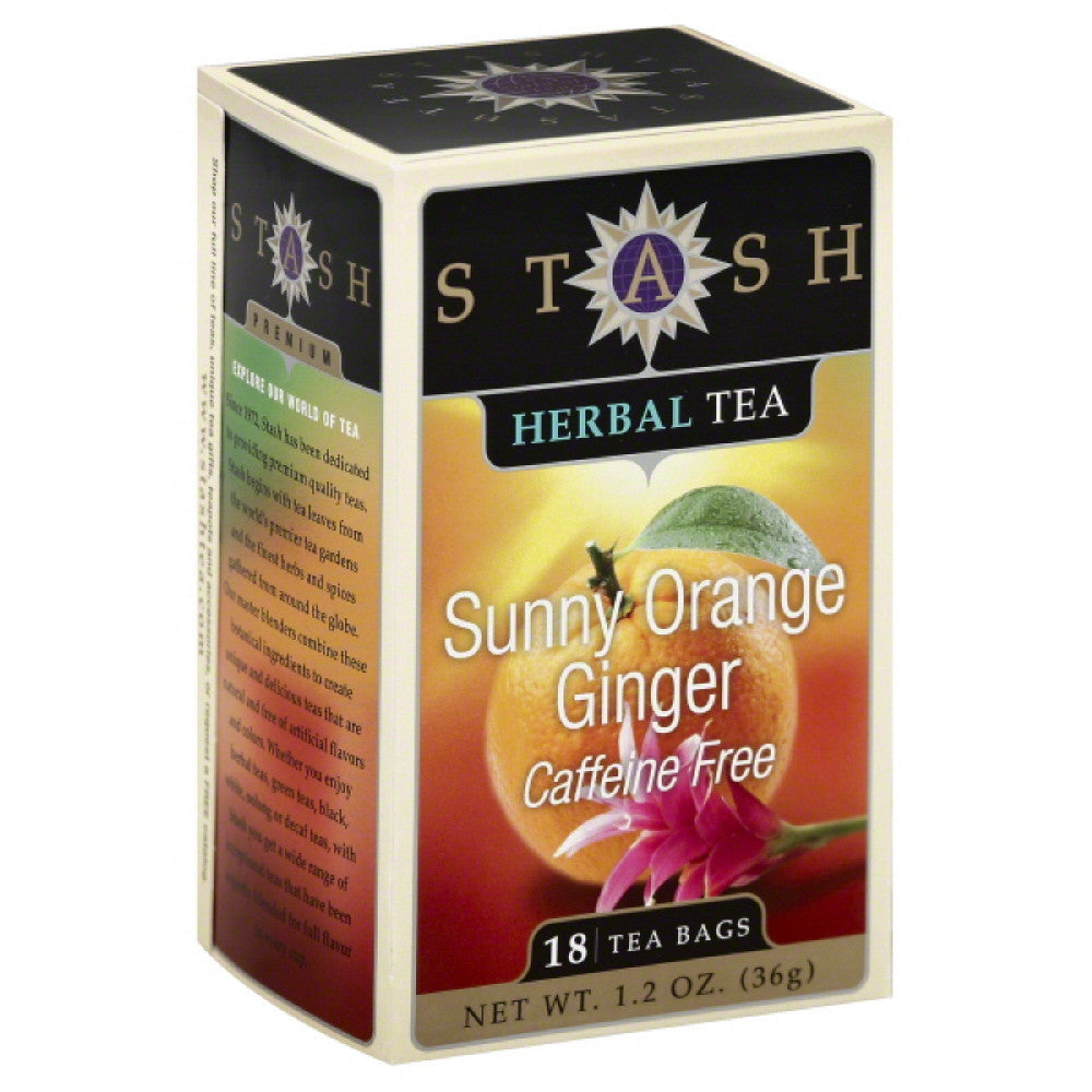 Stash Caffeine Free Sunny Orange Ginger Herbal Tea Bags, 18 Bg (Pack of 6)