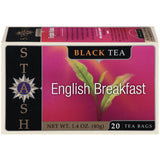 Stash English Breakfast Black Tea Bags 20 Ct  (Pack of 6)