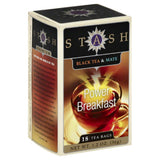 Stash Power Breakfast Black Tea & Mate Bags, 18 Bg (Pack of 6)