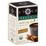 Stash Organic Caffeine Free Gold Cup Chai Herbal Tea Bags, 18 Bg (Pack of 6)
