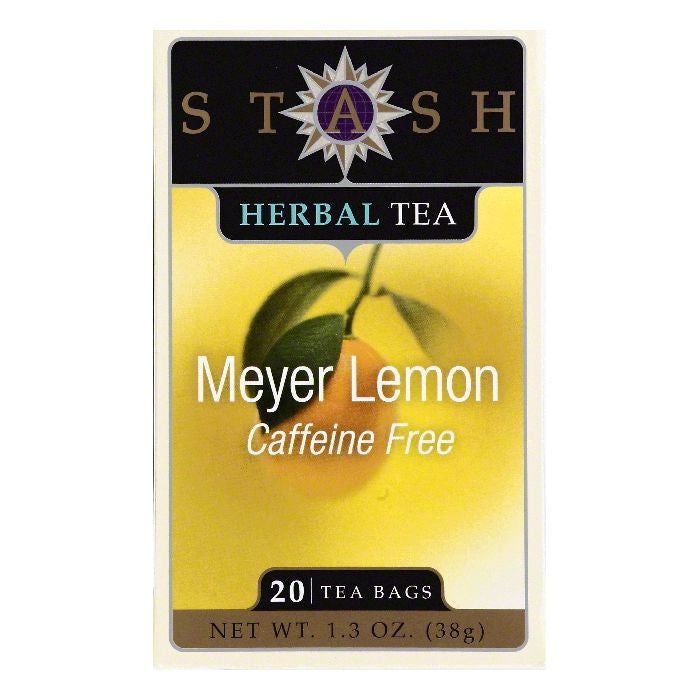 Stash Bags Caffeine Free Meyer Lemon Herbal Tea, 20 ea (Pack of 6)