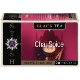 Stash Chai Spice Black Tea Bags 20 Ct  (Pack of 6)
