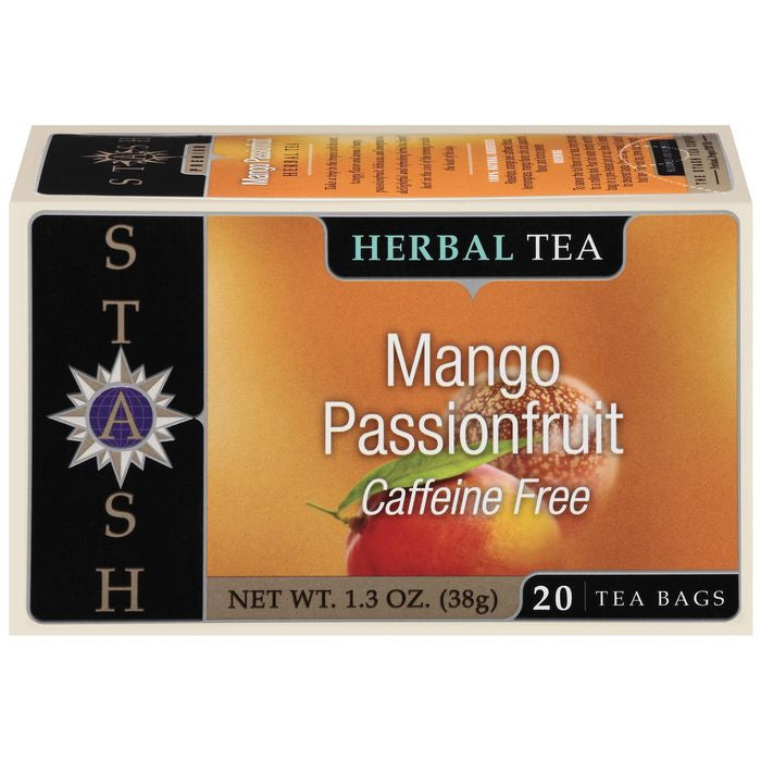 Stash Mango Passionfruit Caffeine Free Herbal Tea Bags 20 Ct  (Pack of 6)