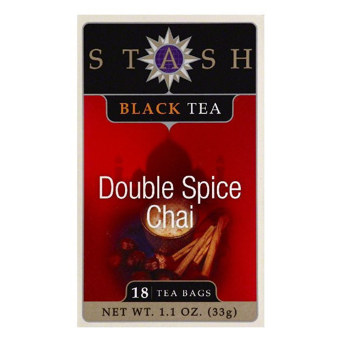 Stash Bags Double Spice Chai Black Tea, 18 ea (Pack of 6)