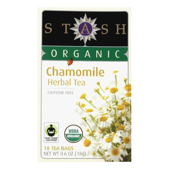 Stash Tea Stash Organic Chamomile Caffeine free, 18 BG (Pack of 6)