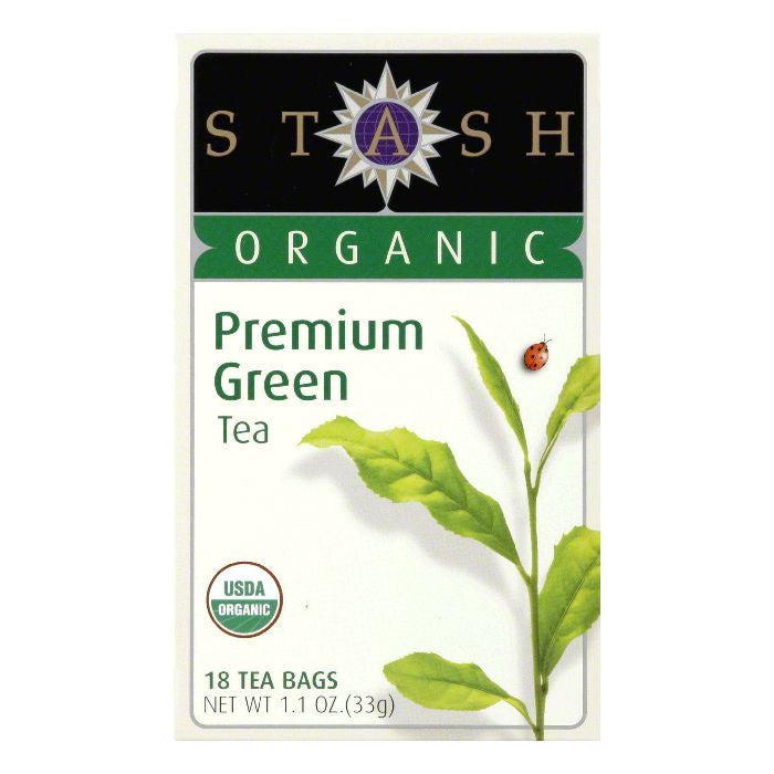 Stash Tea Stash Organic Premium Green, 18 BG (Pack of 6)