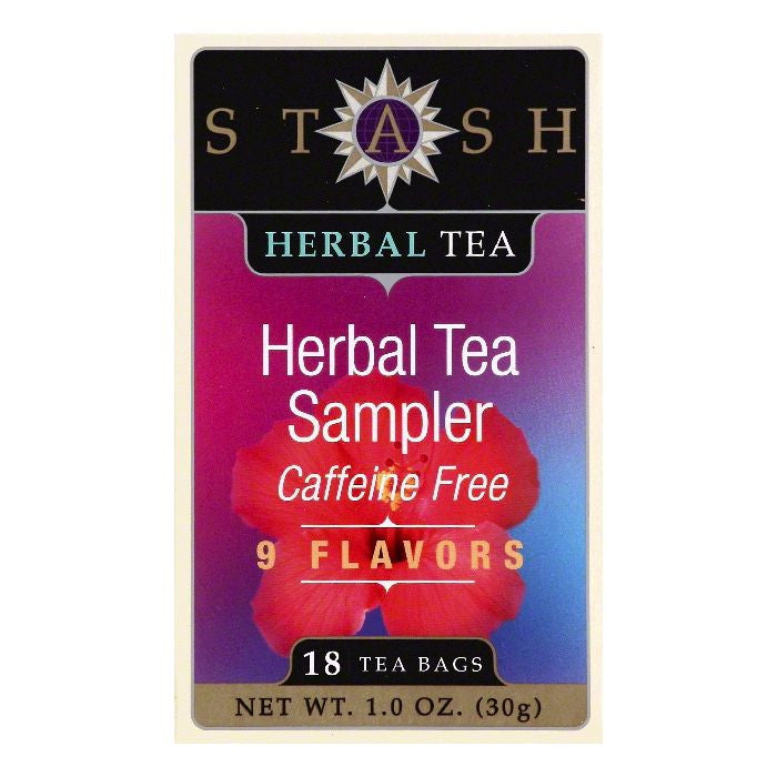 Stash Bags Caffeine Free Sampler Herbal Tea, 18 ea (Pack of 6)
