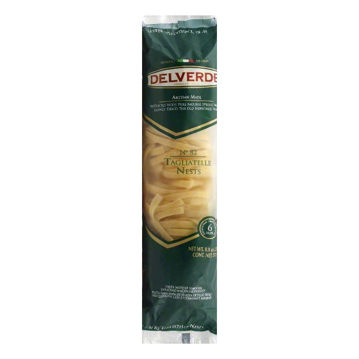 Delverde No. 82 Tagliatelle Nests, 8.8 Oz (Pack of 12)