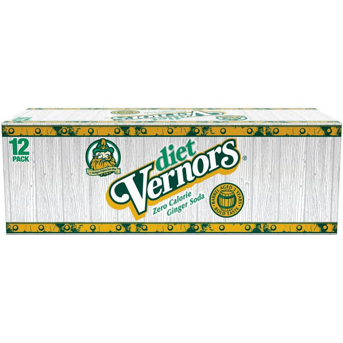 Vernors Diet Ginger Soda 12-12 Oz s