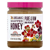 Madhava Whipped Organic Honey, 10.5 OZ (Pack of 6)