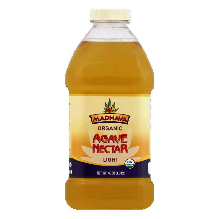 Madhava Light Agave Nectar, 46 OZ (Pack of 6)