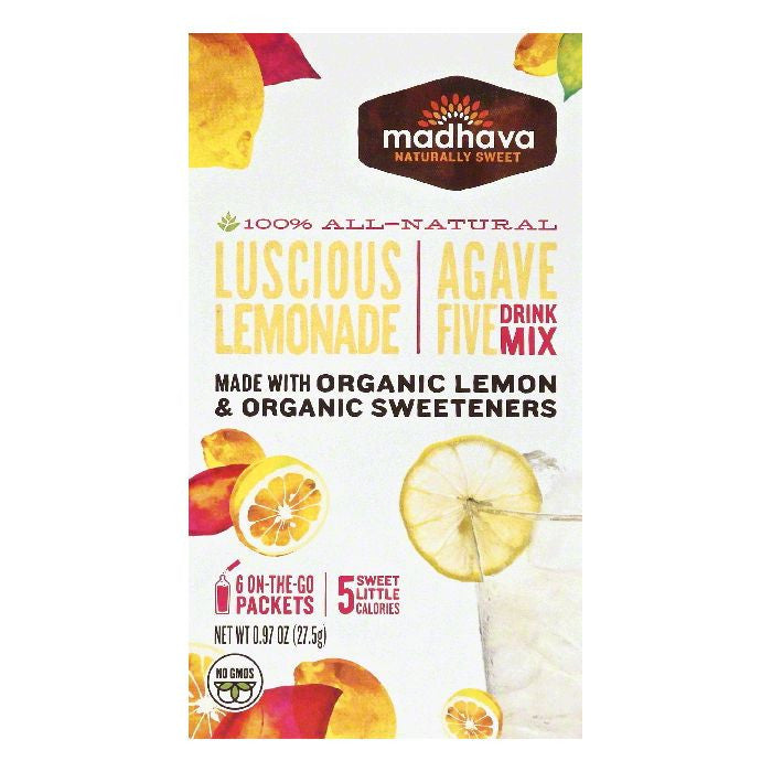 Madhava Luscious Lemonade Agave Five Drink Mix, 6 ea (Pack of 6)