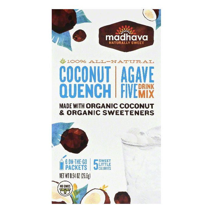 Madhava Coconut Quench Agave Five Drink Mix, 6 ea (Pack of 6)