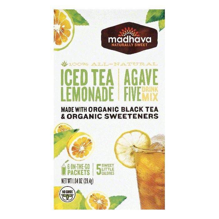 Madhava Iced Tea Lemonade Agave Five Drink Mix, 6 ea (Pack of 6)
