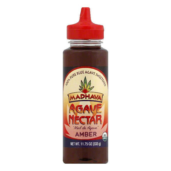 Madhava Nectar Agave Amber, 11.75 OZ (Pack of 6)